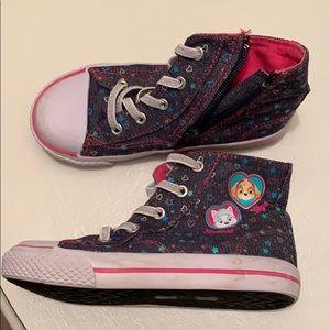 Size 11.5 girls Hightop Paw Patrol Sneakers
